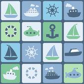 Deniz nakliye — Stok Vektör