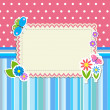 Frame with flowers and butterflies — Stock Vector #12273113