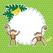 Frame with funny monkeys — Stock Vector #12273117