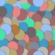 Seamless pattern with paper circles — Stockvektor