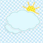 Marco con nubes y sol — Vector de stock