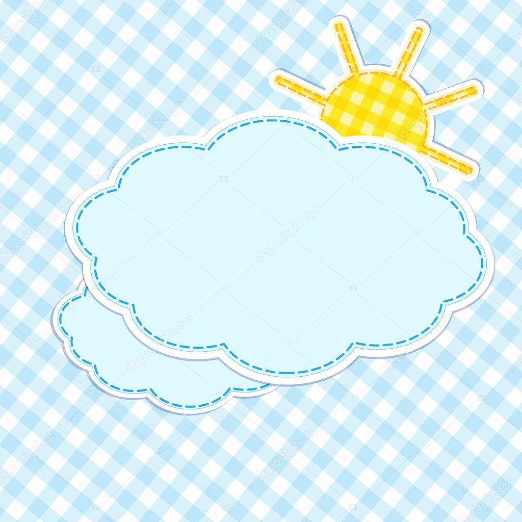 Frame with clouds and sun — Stock Vector #12560508
