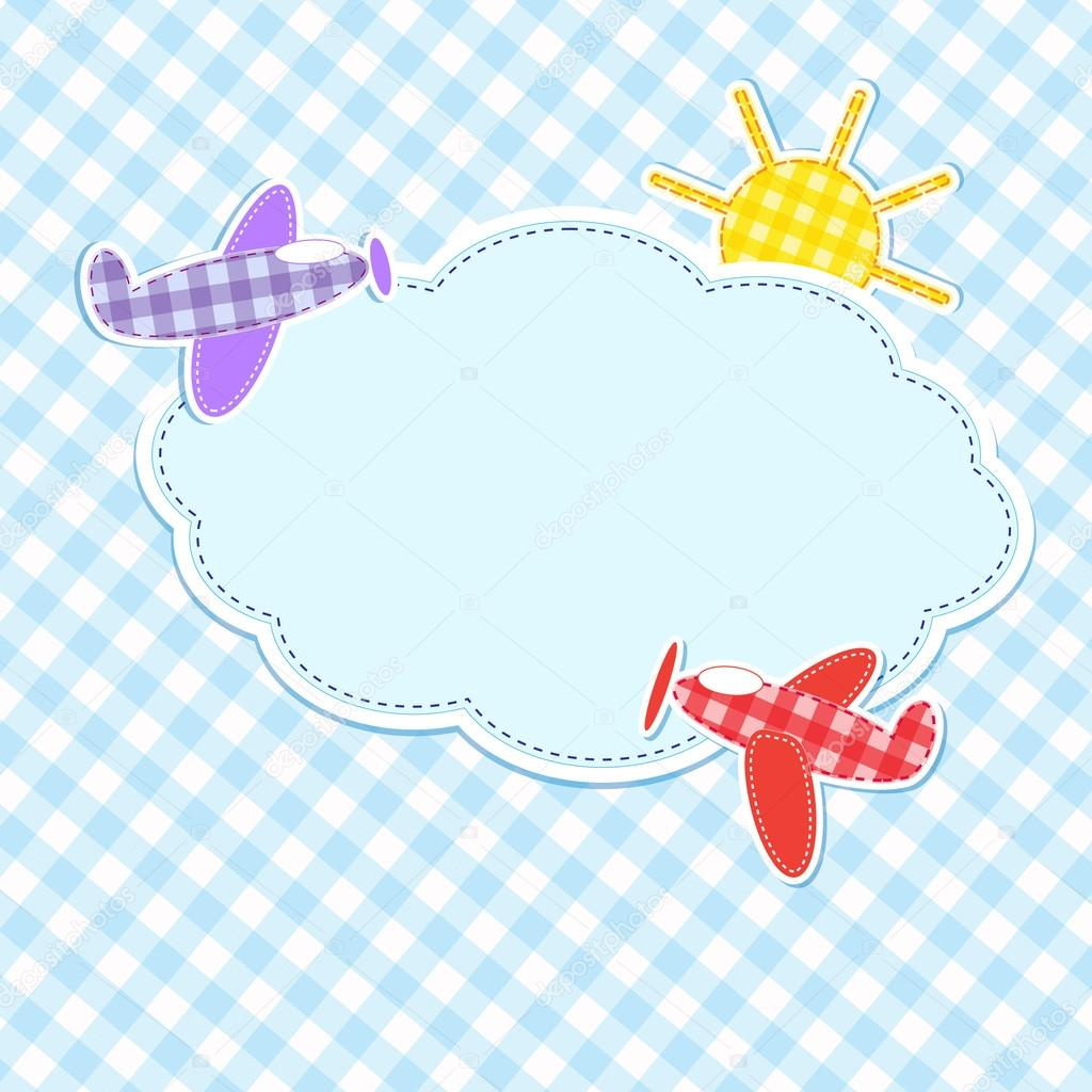Frame with colorful aeroplanes — Stock Vector #12560511