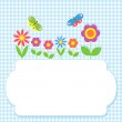 Frame with flowers and butterflies — Stock Vector #12732482