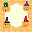 Cute Halloween card — Stock Vector