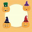 Stock Vector: Cute Halloween card