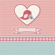 Happy mothers day card with cute birds — Imagen vectorial