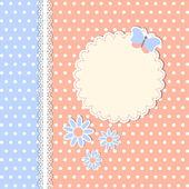 марочные шаблон с цветами и бабочка — Cтоковый вектор