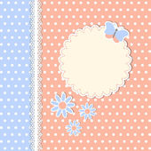 Vintage template with flowers and butterfly — ストックベクタ
