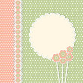 Vintage template with flowers — Vector de stock