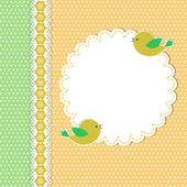 Ročník šablona s dvěma ptáky — Stock vektor