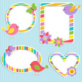 Set of vector cute frames — Stockvector