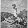 David slays Goliath — Stock Photo