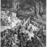 Постер, плакат: Cedars are cut down for the temple