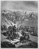 Combat Soldiers of Ish-bosheth and David — Stock Photo