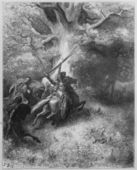 The death of Absalom — Stock Photo