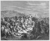 The Israelites slaughter the Syrians — Stock Photo