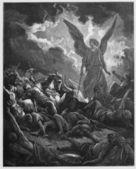 Sennacherib army is destroyed — Stock Photo