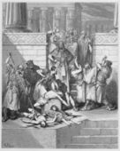 Slaughter of the sons of Zedekiah before their father — Stock Photo