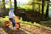 Bike Ride Through Forest — Stock Photo