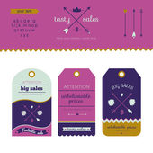 Collection of  unique sale tags — Stock Vector