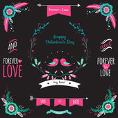 Wedding romantic collection — Stockvector
