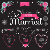 Wedding romantic collection — Stockvektor