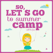 Lets go camp — Stock Vector