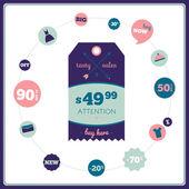 Tag di vendita — Vettoriale Stock
