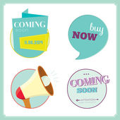 Coming soon tags — Stock Vector