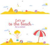 Summer beach banners — Stock Vector