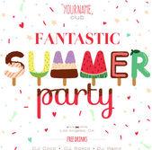 Ilustración de vacaciones de verano — Vector de stock