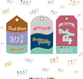 Collection of Vintage Style Sale Tags — Stock Vector