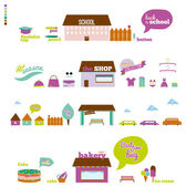 Collection of graphic elements — Stock Vector