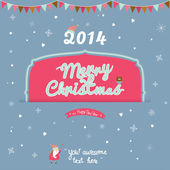 Santa Claus wishing you Happy New 2014 Year and Merry Christmas — Stock Vector