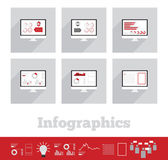 Illustration of info graphic business element — Stock Vector