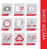 Illustration of info graphic business element — Vector de stock