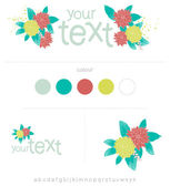 Floral Frame Collection. — Stock Vector