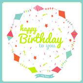 Happy birthday card for baby — Stock Vector