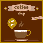 Coffee poster with frames and labels — Stock Vector