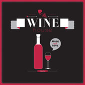 Background for wineries, restaurants and wine shops — Stok Vektör