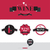 Background for wineries, restaurants and wine shops — Stock Vector