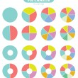 Set of colorful circle diagram for your design — Stock Vector #50834011