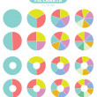 Set of colorful circle diagram for your design — Stock Vector