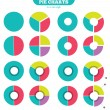 Set of colorful circle diagram for your design — Stock Vector #50834057