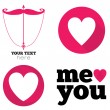 Hearts icon set, ideal for valentines day and wedding — Stock Vector #50834613