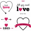 Hearts icon set, ideal for valentines day and wedding — Stock Vector #50834621