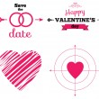 Hearts icon set, ideal for valentines day and wedding — Stock Vector