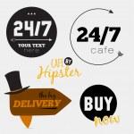 Big set of restaurant and cafe menu design, — Stock Vector