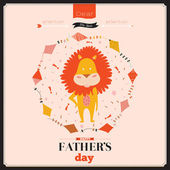 Güzel tebrik kartı mutlu babalar günü — Stok Vektör